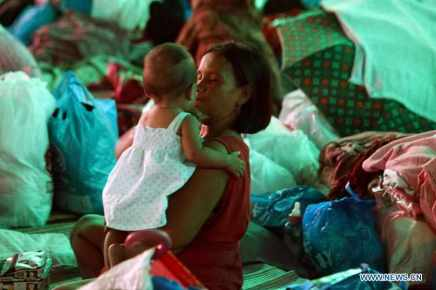 Evacuation center Philippines- Black Helios